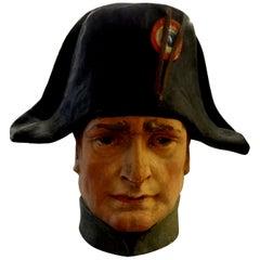 French Papier Mâché Bust of Napoleon Bonaparte