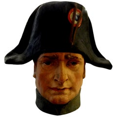 French Papier Mâché Bust of Napoleon Bonaparte