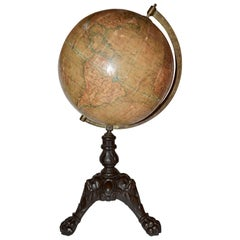 French Papier-Mâché Terrestial Globe by J. Lebeque et Cie