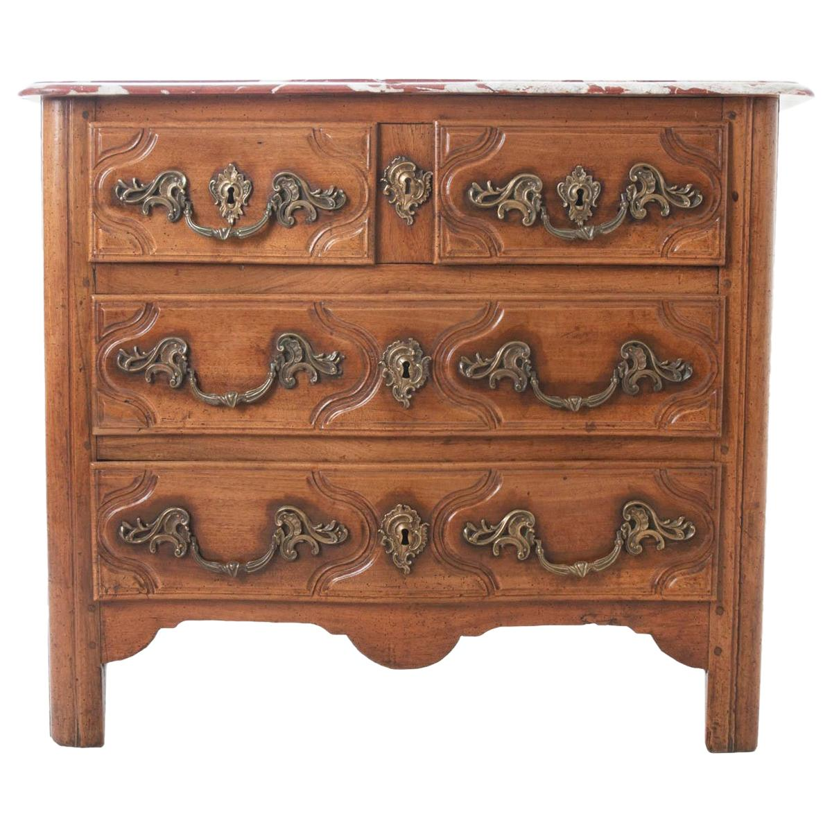 French Parisian 18th Century Marble-Top Commode