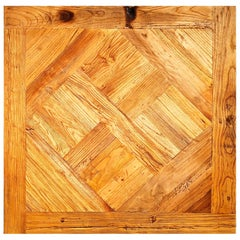 "French ""Parquet De Versailles"" Handmade Solid Antique Wood Oak Flooring"