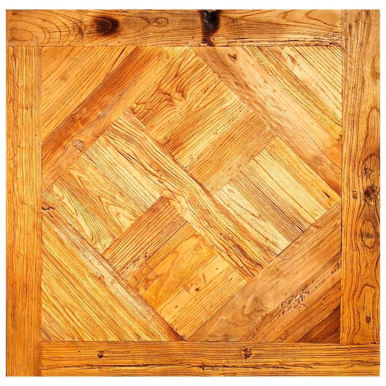 "French ""Parquet De Versailles"" Handmade Solid Antique Wood Oak Flooring For Sale"