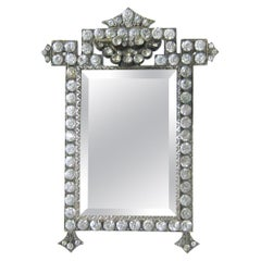 French Paste Picture Frame circa 1920 Vintage Art Deco Jeweled Locket Back
