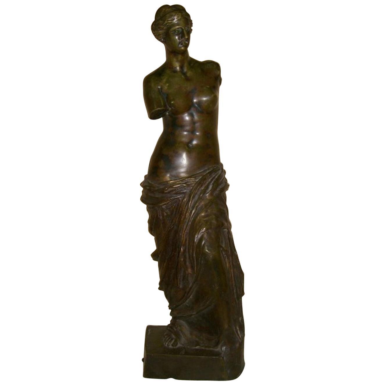 French Patinated Bronze Sculpture of Venus de Milo