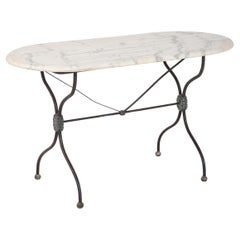 French Patisserie Table with Marble