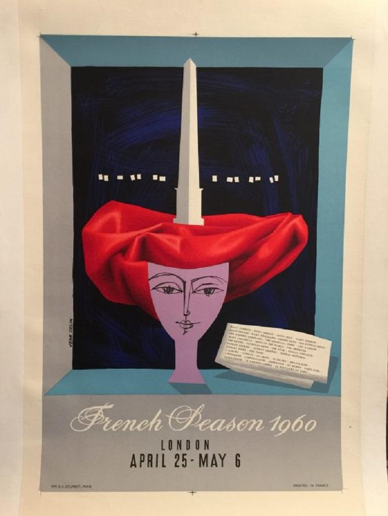 French Peason, 1960 Poster In Good Condition For Sale In Melbourne, Victoria