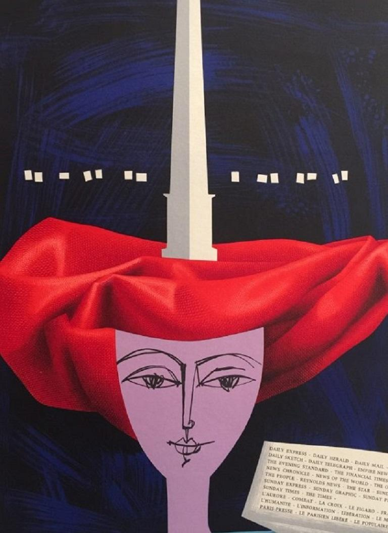 Mid-20th Century French Peason, 1960 Poster For Sale
