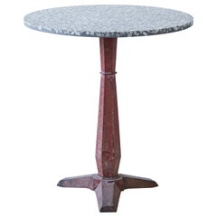 French Pedestal Table with Terrazzo Top