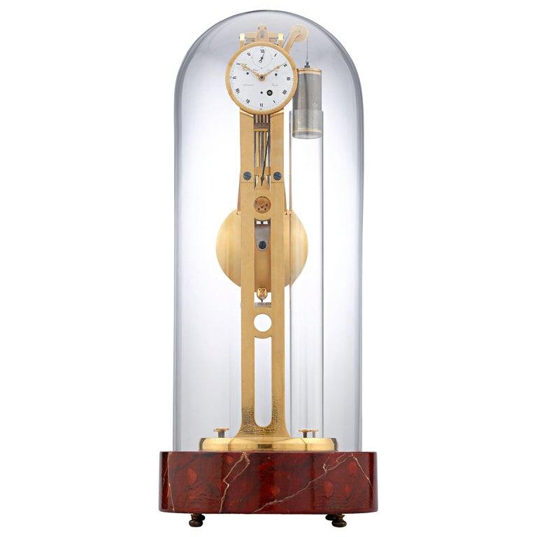 Louis XVI pendulum skeleton clock, ca. 1780, offered by M.S. Rau