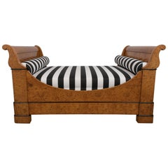 French Period Empire Burled Wood Daybed