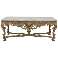 Early 19th Century French Louis XVI Gilt Center Table