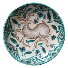 French Persian-Inspired Ceramic Bowl by Édouard Cazaux, circa 1930s