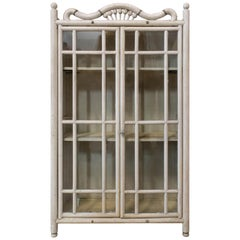 French Petite Vitrine Beveled Glass or Hanging Cabinet, Early 20th Century