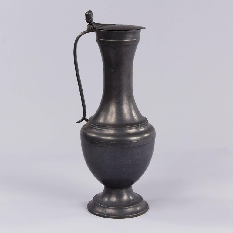 French Pewter Pitcher, 1940s For Sale 7