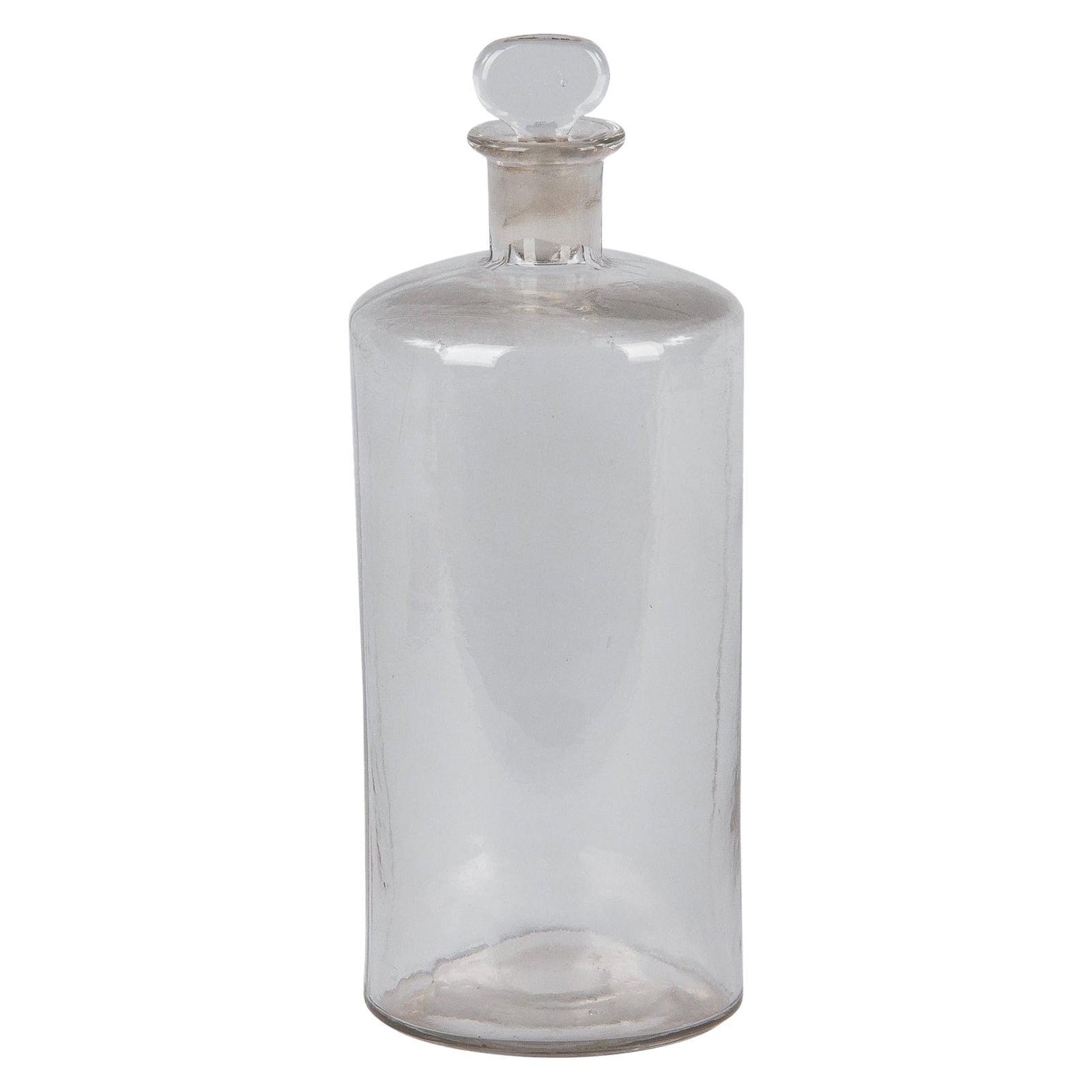 French Pharmacy Glass Jar, Early 1900s