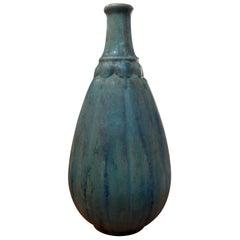 French Pierrefonds Glazed Pottery Vase, circa 1920