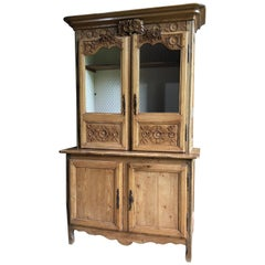 French Pine Buffet a Deux Corps, C. 1800