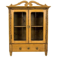 French Pine Miniature Cabinet