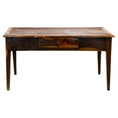 French Pine Painted Kitchen Table