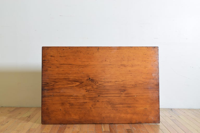 French Pinewood Adjustable Drafting Table or Desk, circa 1900 For Sale 8
