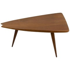 French Plain Oak Midcentury Freeform Cocktail Table by Pierre Cruège