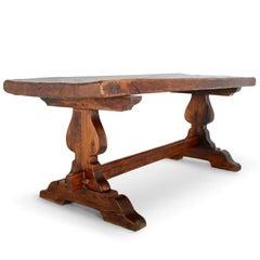 Französischer Stützbock-Tisch aus Eichendielen C-GD