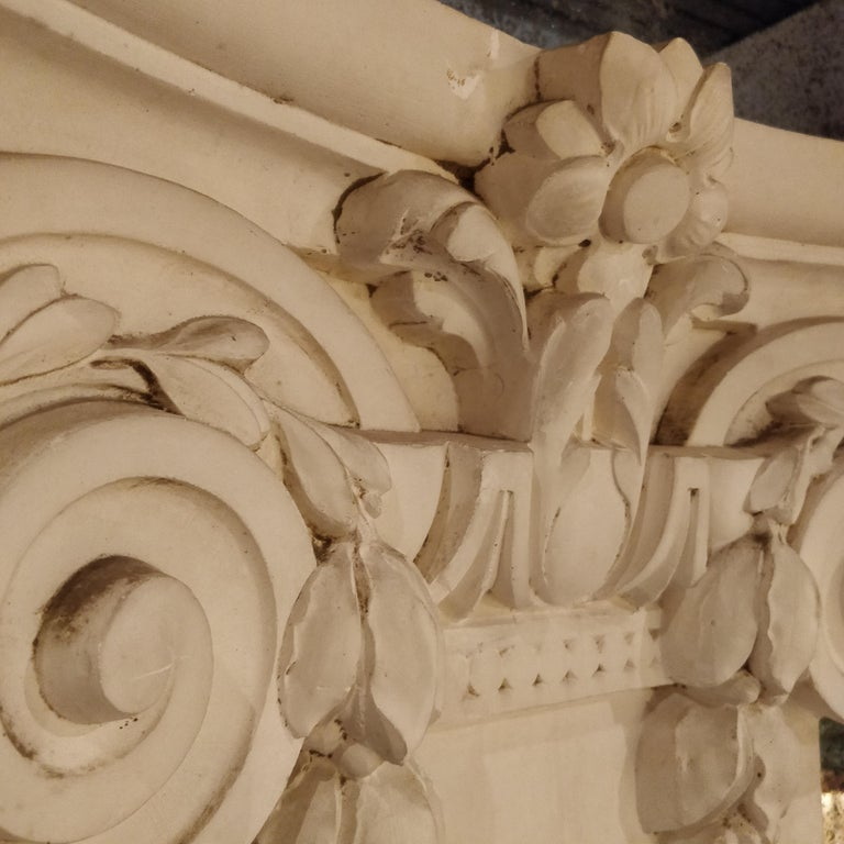 French Plaster Architectural Ionic Capital Element, circa 1960 For Sale 6