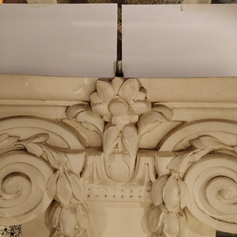 French Plaster Architectural Ionic Capital Element, circa 1960 In Good Condition For Sale In London, GB