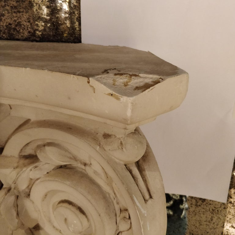 Mid-20th Century French Plaster Architectural Ionic Capital Element, circa 1960 For Sale