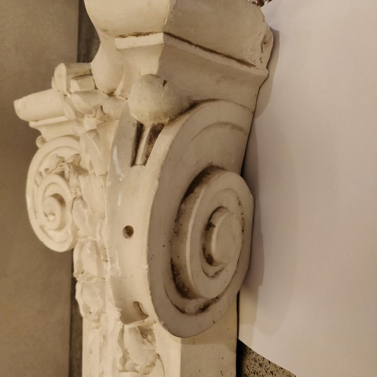 Exterior: French Plaster Architectural Ionic Capital Element, Circa