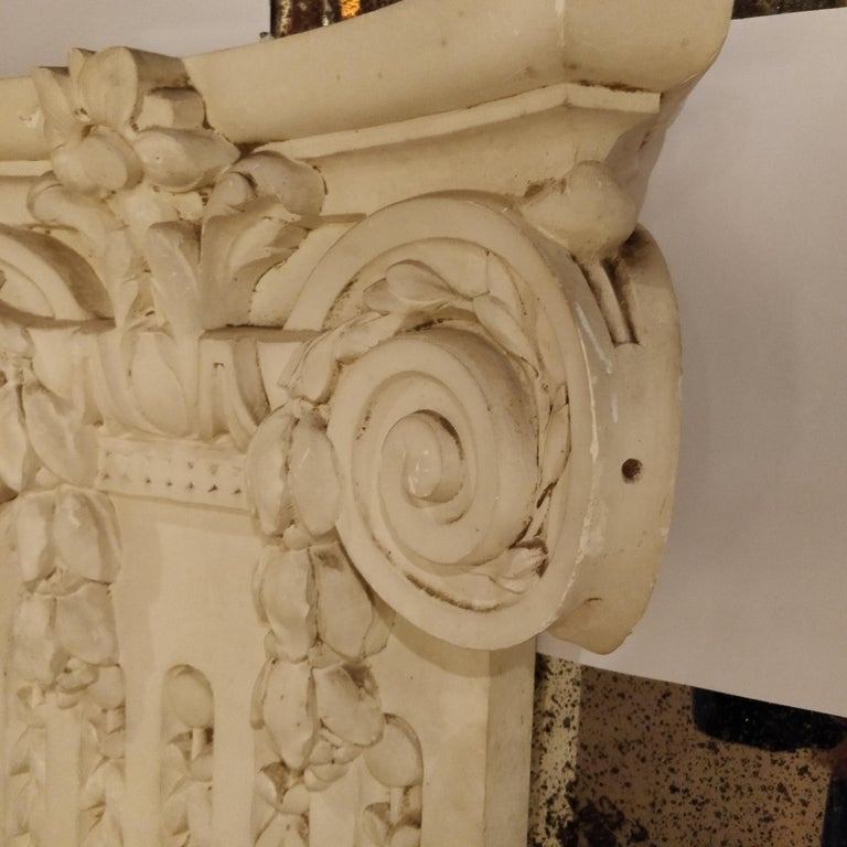 French Plaster Architectural Ionic Capital Element, circa 1960 For Sale 2