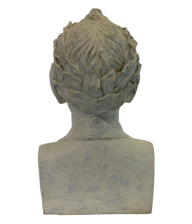 French Plaster Head of Napoleon as Emperor In Good Condition For Sale In London, GB