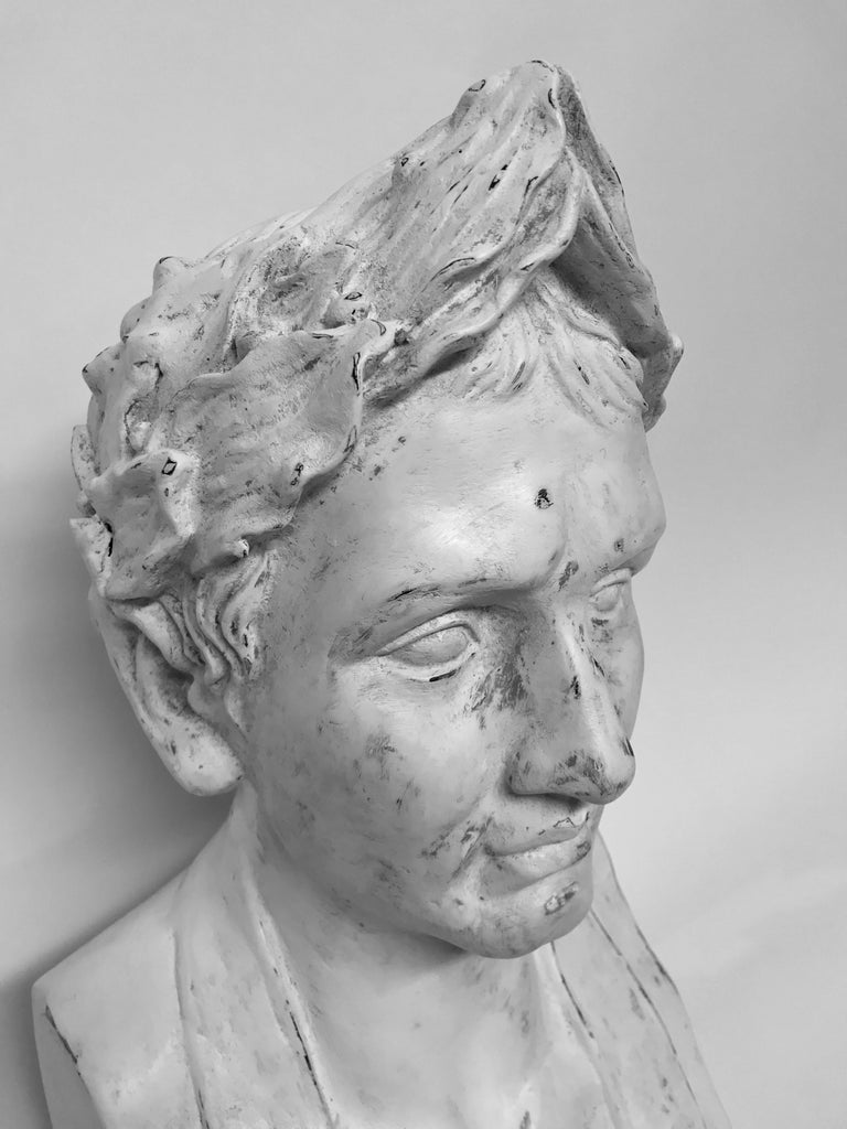 French Plaster Head of Napoleon as Emperor For Sale 1