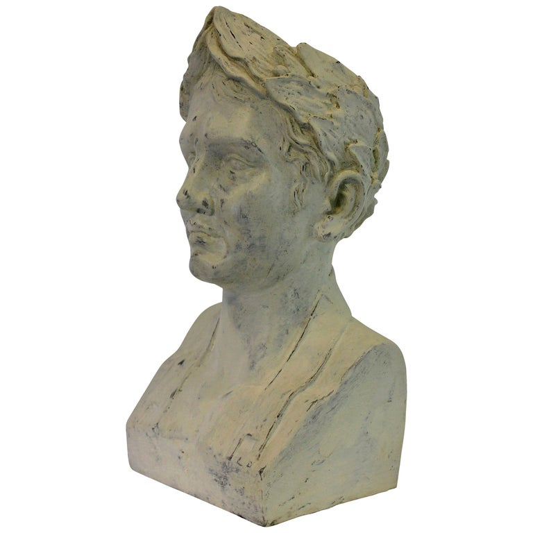French Plaster Head of Napoleon as Emperor For Sale