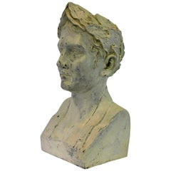 French Plaster Head of Napoleon as Emperor
