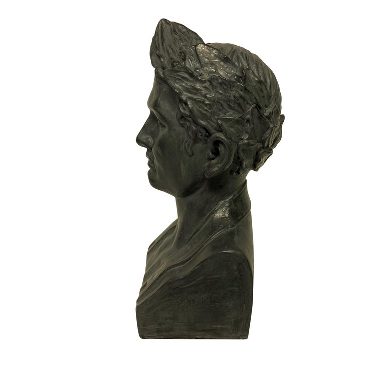 French Plaster Head of Napoleon In Good Condition In London, GB