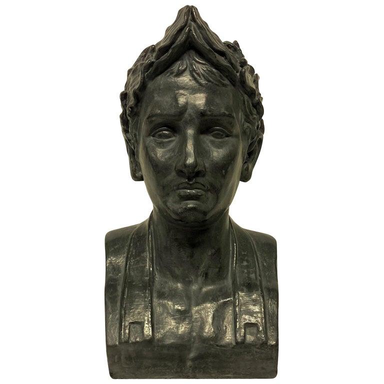 French Plaster Head of Napoleon