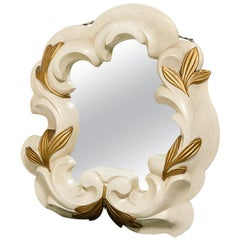 French Plaster Mirror in the Manner of Serge Roche
