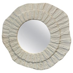 French Plaster Textured Amorphic Mirror