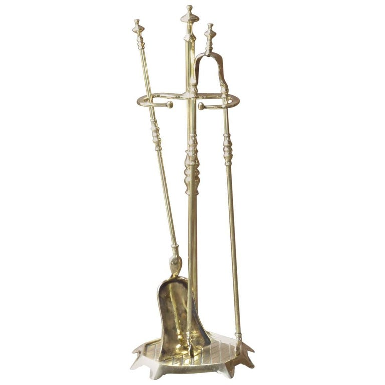 French Polished Brass Fireplace Tools Or Fire Tools For Sale At 1stdibs