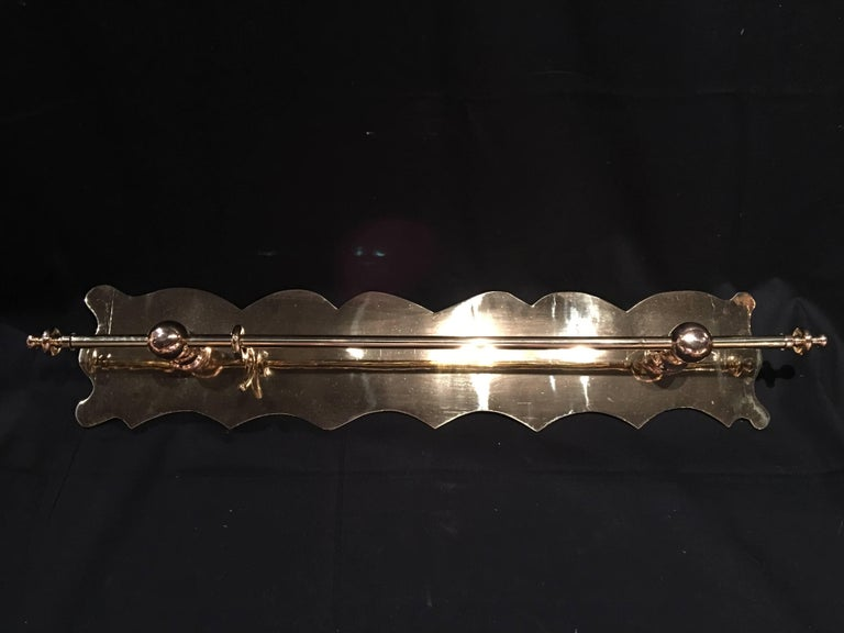 French Polished Kitchen or Towel Bar Wall Rail, 19th Century For Sale 3