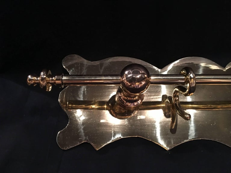 French Polished Kitchen or Towel Bar Wall Rail, 19th Century For Sale 5