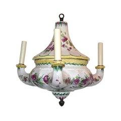 French Porcelain Floral Chandelier