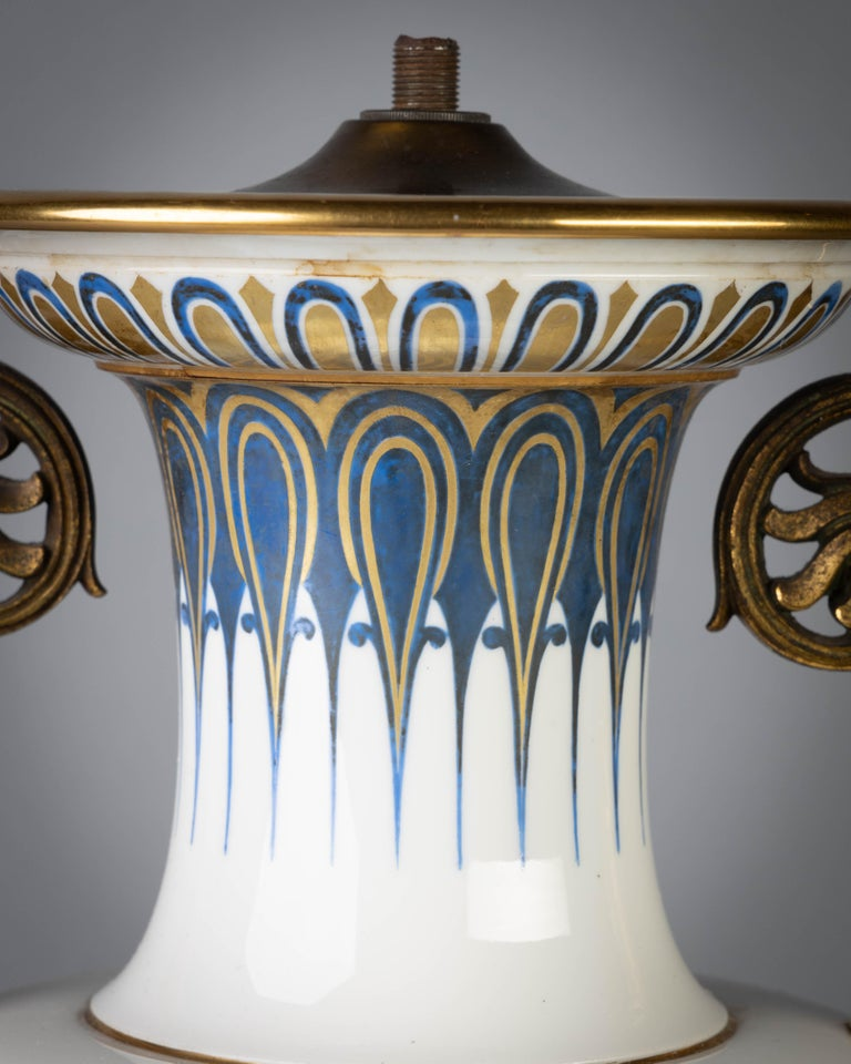 Mid-19th Century French Porcelain Gilt Bronze Mounted Sevres Vase, circa 1845 For Sale