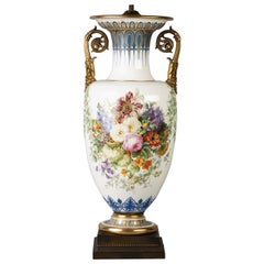 French Porcelain Gilt Bronze Mounted Sevres Vase, circa 1845