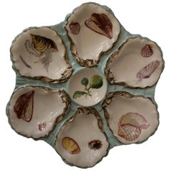"""French Porcelain Oyster Plate """"Haviland Pour Gilman Collamore"""", 19th Century"""