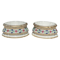 French Porcelain Paris Oval Trencher Salts, Porcelaine a la Reine