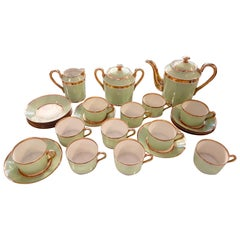 French Porcelain Tea, Coffee or Breakfast Set Reminiscent of Ladurée