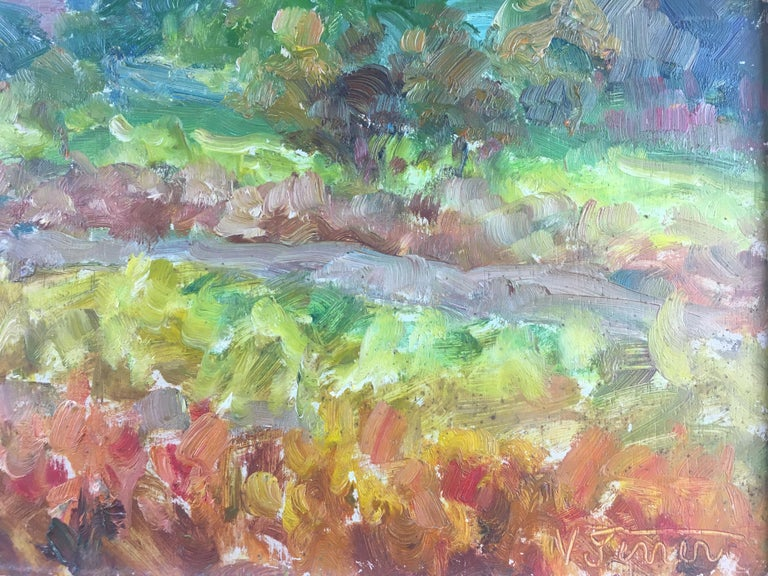 French Post-Impressionist Landscape Painting by Victor Ferreri In Good Condition For Sale In Arles, FR