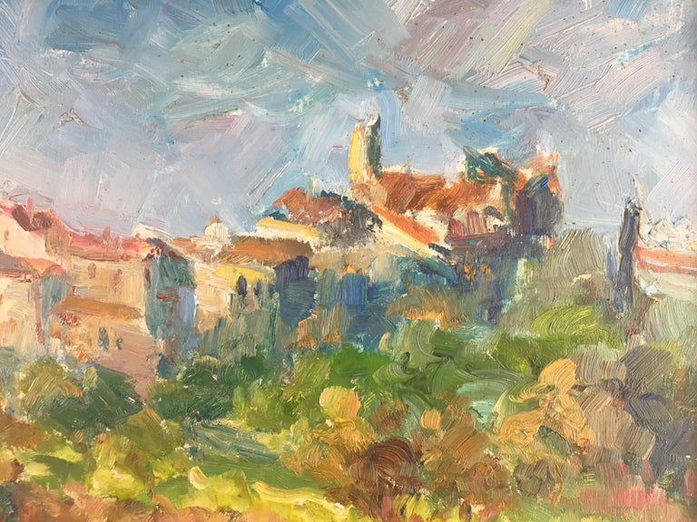 French Post-Impressionist Landscape Painting by Victor Ferreri For Sale 1